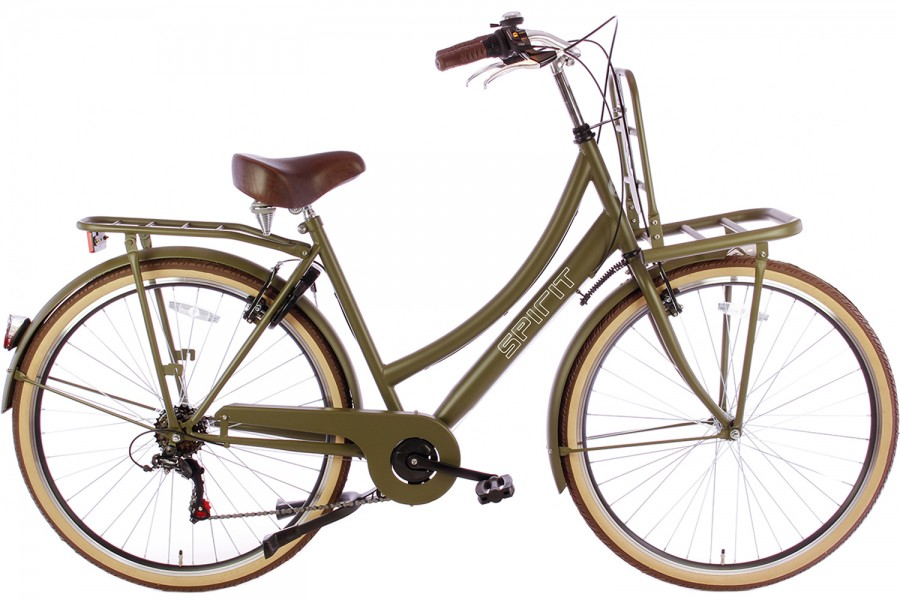SPIRIT TRANSPORTER 6-SPEED DAMESFIETS MAT-GROEN