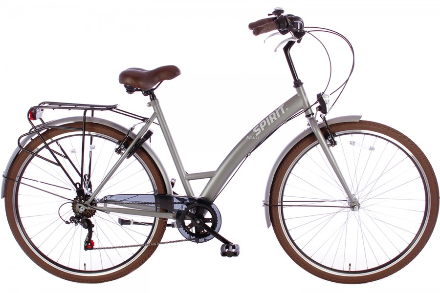 SPIRIT DAMESFIETS AVANTI 6-SPEED MAT-GRIJS 2019