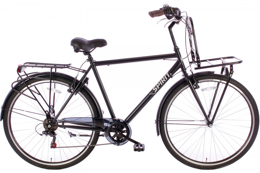 SPIRIT HERENFIETS AVANTI PLUS 6-SPEED MAT-ZWART 2019