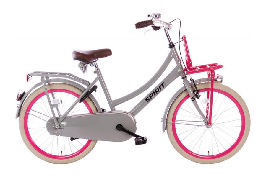 Spirit Cargo Grijs-Roze Meisjesfiets 22 inch