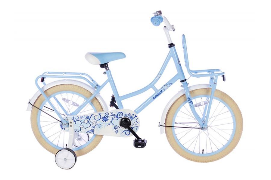 Spirit Omafiets Meisjesfiets Blauw 18 inch