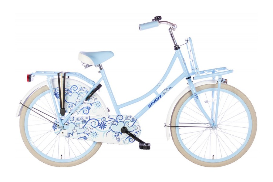 Spirit Omafiets Blauw Meisjesfiets 24 inch