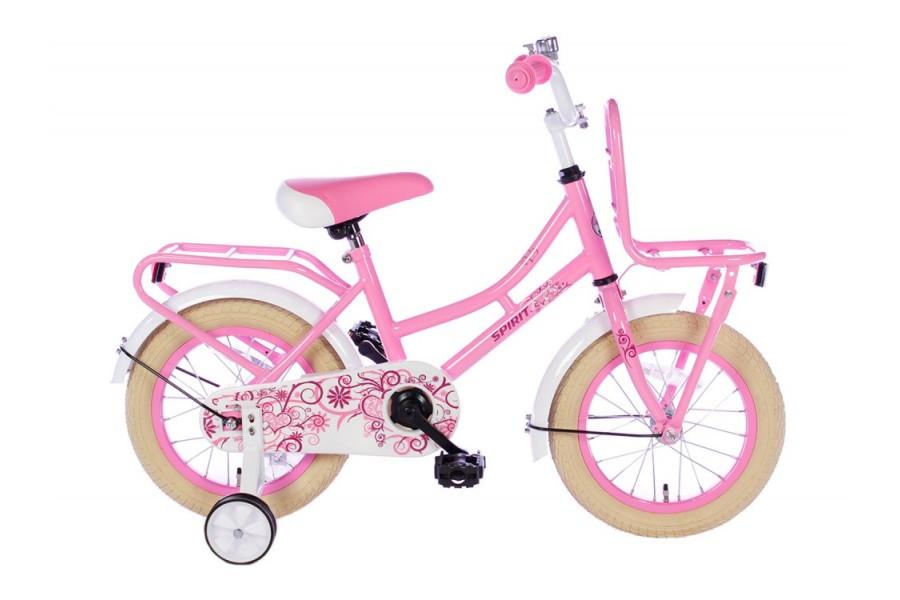 Spirit Omafiets Roze Meisjesfiets 12 inch