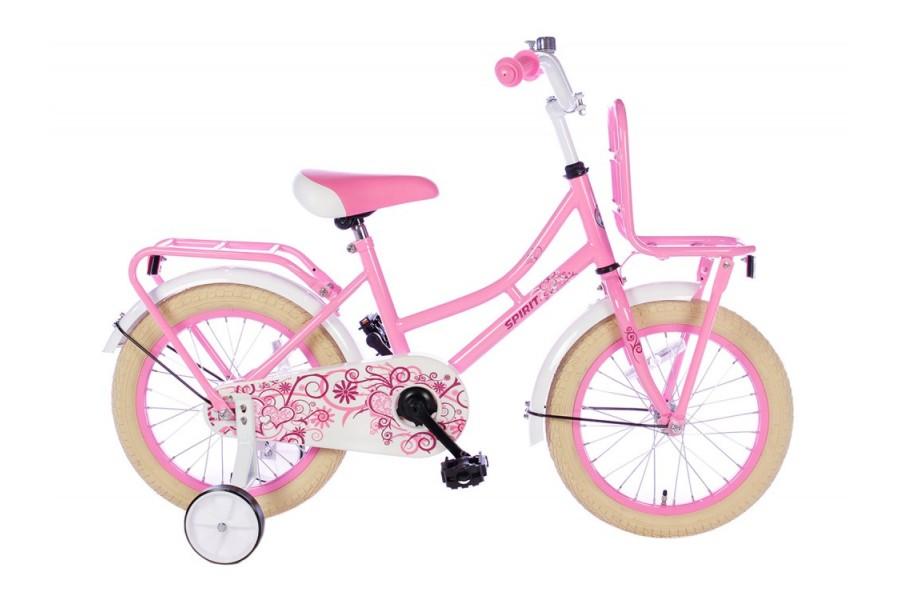 Spirit Omafiets Roze Meisjesfiets 16 inch