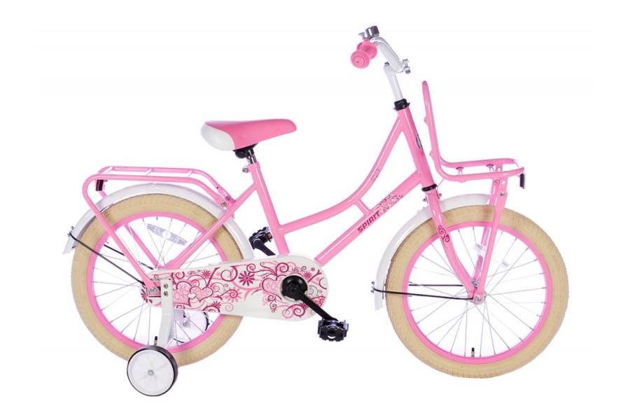 Spirit Omafiets Meisjesfiets Roze 18 inch